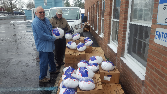 Food pantry turkey give away