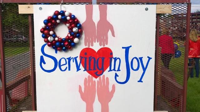 serving in joy